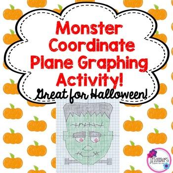 Halloween Math Monster Coordinate Graphing Activity