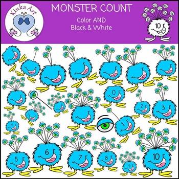 Monster Count Clip Art