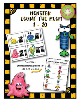 Monster Count the Room Tallies 1-20