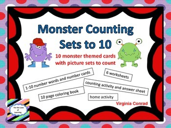 Monster Counting 1-10 Activities & Worksheets