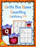 Monster Counting 1-9 (Subitizing) Write the Home | Distanc