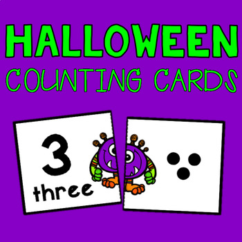 Monster Counting Cards - Set of 10