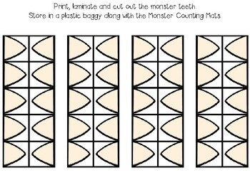 Monster Counting Mats 1-10 with Tens Frames ***FREEBIE***