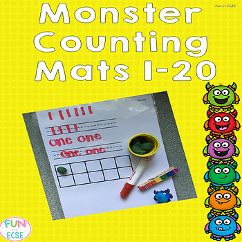 Monster Counting Mats 1-20