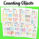 Monster Counting Objects 1-10 Worksheets Math Counting Objects to 10