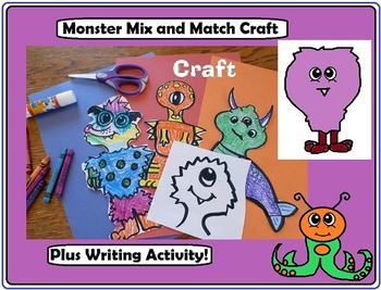 Monster Craft and Writing Activity