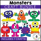 Monster Crafts Bundle   Halloween Activities   Aliens   Outer Space Theme