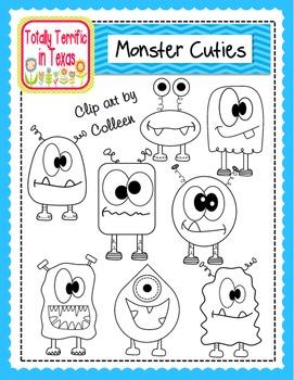 Monster Cuties Clip Art