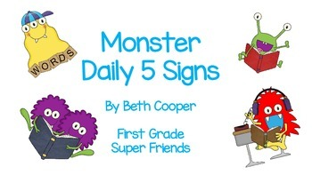 Monster Daily 5 Cards