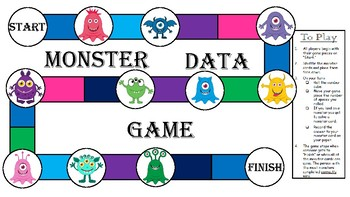 TEKS 1.8A - Monster Data Game