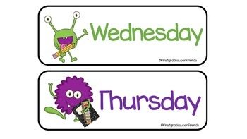 Monster Days of the Week
