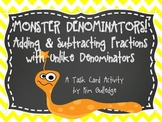 Adding & Subtracting Fractions with Unlike Denominators - Inc. QR Code Fun
