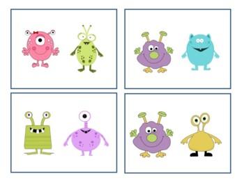 Monster Descriptive/Describing Concepts Flashcards!