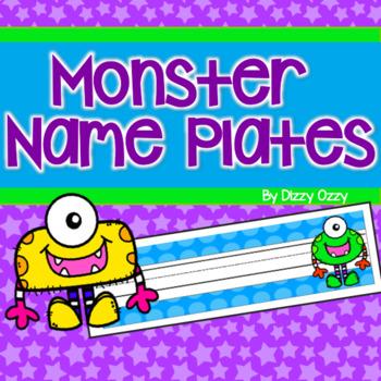 Monster Desk Name Plates