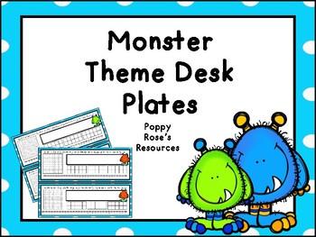 Monster Desk Plates