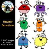 Monster Detectives Clip Art