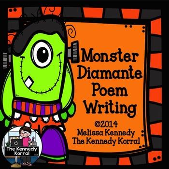 Monster Diamante Poem {Writing Synonyms & Antonyms}