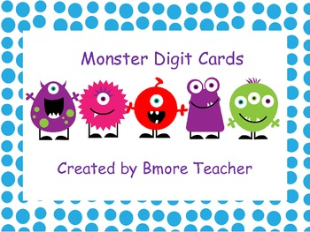 Monster Digit Cards