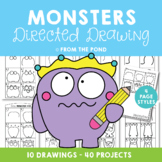 Monster Directed Drawing {Fun Art Projects}