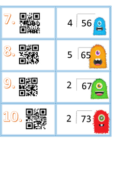 Monster Division with QR codes