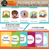 Daily Home Routine Cards EDITABLE