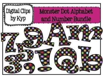 Monster Dot Alphabet and Number Set
