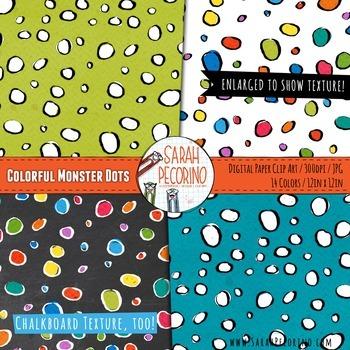 Monster Dots Digital Paper