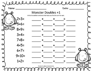 Monster Doubles +1 (Bilingual)