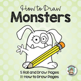 Monster Drawing Art Activity - How to Draw a Monster