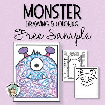 Monster Drawing and Coloring Free Sample