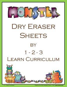 Monster Dry Eraser Sheets