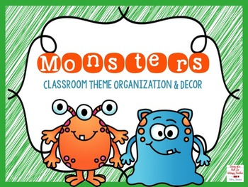 Monster EDITABLE Classroom Theme Organization and Decor