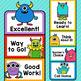 Monster Theme Classroom Decor Editable Behavior Clip Chart