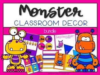 Monster:  Editable Classroom Decor Bundle