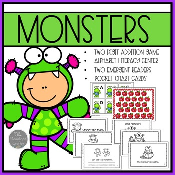 Monster Emergent Readers with Center Materials
