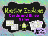 Monster Feelings and Emotions Cards and Bingo Game