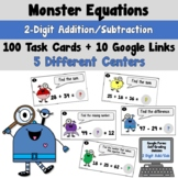 Monster Equations using 2-Digit Addition and Subtraction