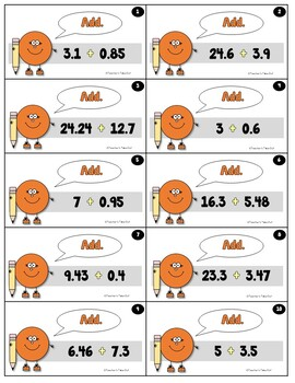 Monster Decimals -Adding/Subtracting up to Hundredths
