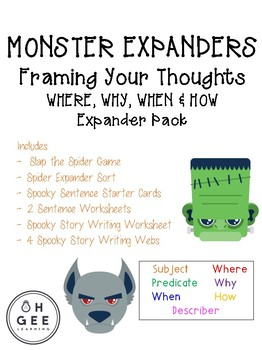Monster Expanders Framing Your Thoughts Packet