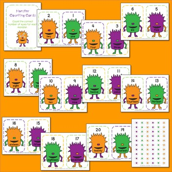 Monster Eye Counting Cards