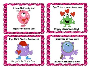 Monster Eye Valentines