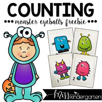 Monster Eyeball Counting {freebie}