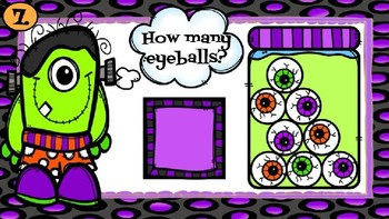 Monster Eyeballs (Counting objects to 10)-A Digital Math Center