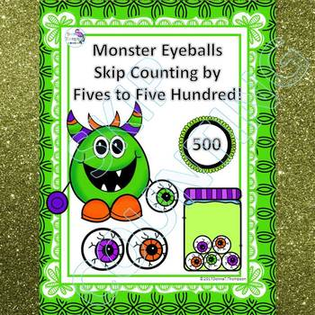 "Monster Eyeballs ""Skip Counting Flash Cards"" (By 5)"