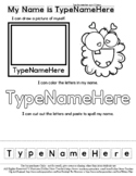 Monster Face - Name Practice Editable Sheet - #60CentFinds  *s
