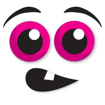 Monster Faces Clipart   Googly-Eyed Monsters   Halloween Clip art