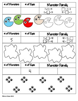 Monster Fact Families - Multiplication/Division - Halloween