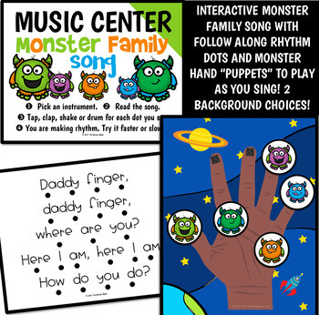 Monster Family Finger Play Pack