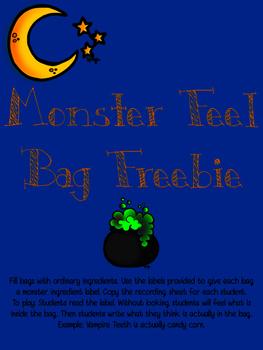 Monster Feel Bags Freebie