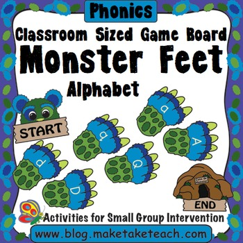 Alphabet - Monster Feet Classroom Sized Game Board